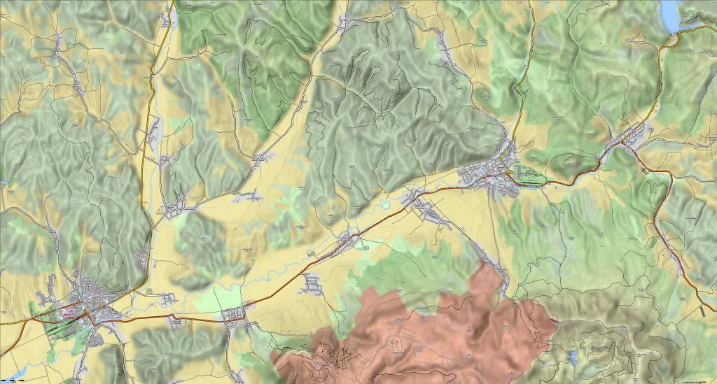 Cirocha mapa